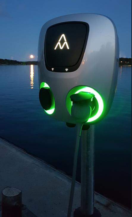 Charge Amps AURA elektromos autó töltőállomás (2x22kW)